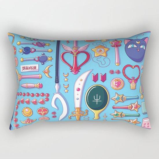 Magical Arsenal Blue Rectangular Pillow