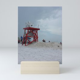 Beach Lifeguard Station Mini Art Print