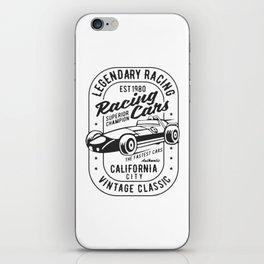 legendary racing cars iPhone Skin