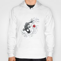 ying yang Hoodies featuring Koi fish ying yang by Maioriz Home