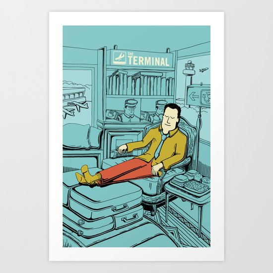 Movies we like - The Terminal Art Print