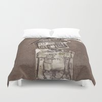 cartoons Duvet Covers featuring Saturday Morning Cartoons 1: Homebody by Kayleigh Morin
