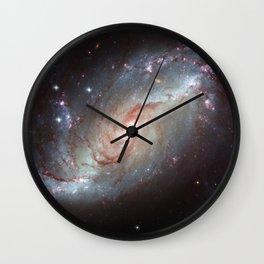 Barred spiral galaxy Wall Clock