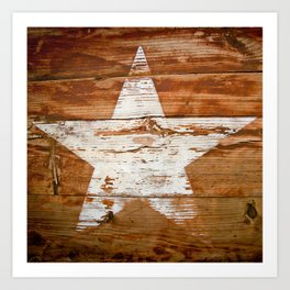 Faded Star Art Print