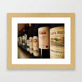 Wine Bottles Framed Art Print
