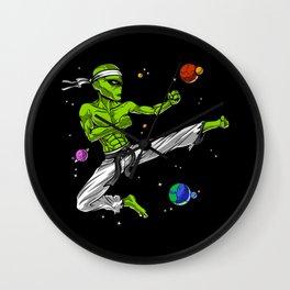 Space Alien Karate Ninja Wall Clock