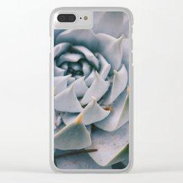 Pale Succulent Center Clear iPhone Case