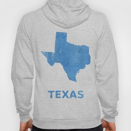 Texas map outline Blue Jeans watercolor Hoody