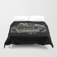 the goonies Duvet Covers featuring Oregon Coast Adventure by TEEvsTEE