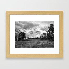 Eureka Springs Arkansas Christ of the Ozarks - Monochrome Framed Art Print