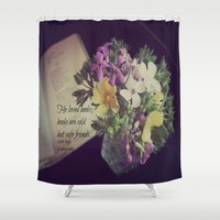 les miserables Shower Curtains featuring Books Les Miserables by KimberosePhotography
