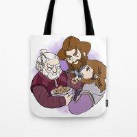 nori Tote Bags featuring Dori, Nori and Ori  by BlueSparkle