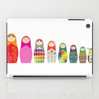 russian iPad Cases featuring Russian Dolls by malobi