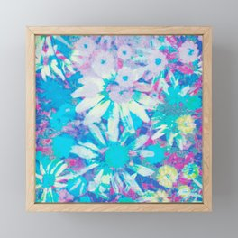 far out! floral tie dye Framed Mini Art Print