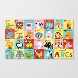 Animal ABCs Canvas Print