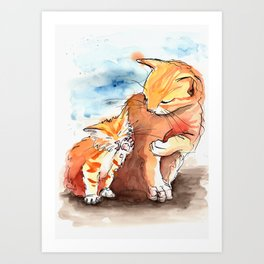 Cat Family Art Print