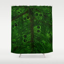 Mosaic of owls V2 Shower Curtain