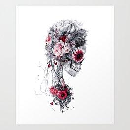 Skeleton Bride Art Print