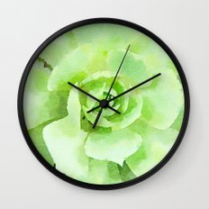 Lime Succulent Plant Wall Clock