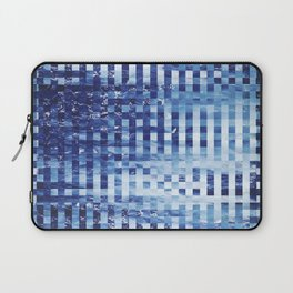 Nautical pixel abstract pattern Laptop Sleeve