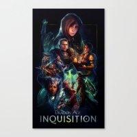 dragon age inquisition Canvas Prints featuring Inquisition by Ililaz