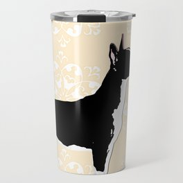 English Bull Terrier Dog in black Travel Mug