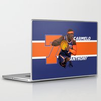 nba Laptop & iPad Skins featuring NBA Stars: Carmelo Anthony by Akyanyme