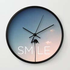 Palm tree Smile Wall Clock