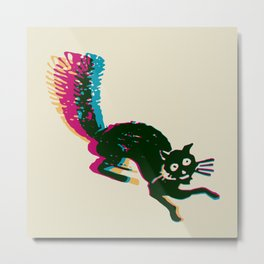 Gato Loco Metal Print
