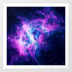 Galaxy Dream Catcher Art Print
