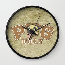 Pug Ugly Wall Clock