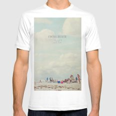 summer days... MEDIUM White Mens Fitted Tee