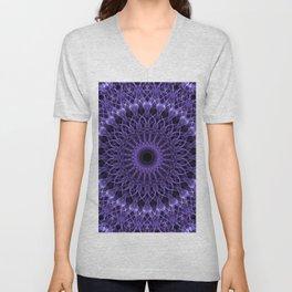 Detailed violet mandala Unisex V-Neck