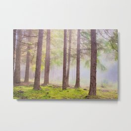 Scottish forest watercolor painting #2 Metal Print