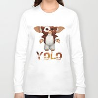 gizmo Long Sleeve T-shirts featuring Gizmo Yolo by Raul Hinojosa