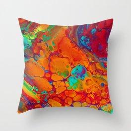 Spectrum Spill Throw Pillow