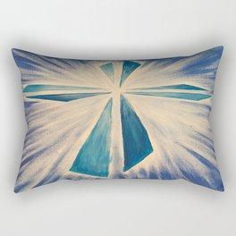 Radiant Blue Cross Rectangular Pillow