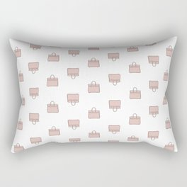 Pink Birkin Vibes High Fashion Purse Illustration Rectangular Pillow