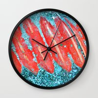 nail polish Wall Clocks featuring Not Nail Polish by ghennah