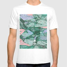 Drops in the Green Cell  MEDIUM Mens Fitted Tee White