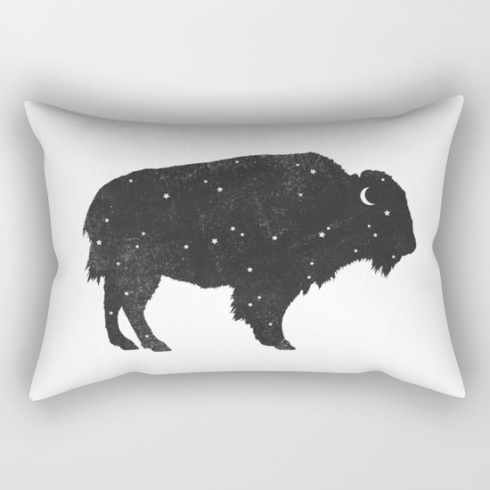 Mystic Buffalo  Rectangular Pillow