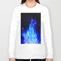 castle in the sky Long Sleeve T-shirts featuring Enchanted Castle by Whimsy Romance & Fun