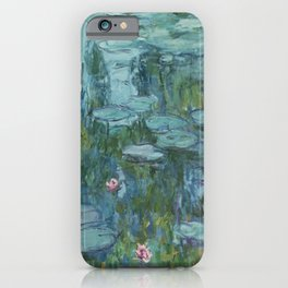 Monet, Water Lilies, Nympheas, Seerosen, 1915 iPhone Case
