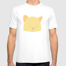Pussy Amarelo Mens Fitted Tee White MEDIUM