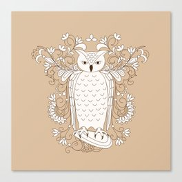 zen owl Canvas Print