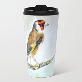 European goldfinch on tree branch Travel Mug