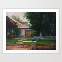 To wet for Ping pong Art Print