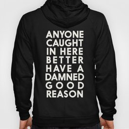 Funny, warning sign, humour signal, safety signs, safety hazard, for office, garage, warning!, alt! Hoody