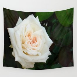 White Rose With Natural Garden Background Wall Tapestry