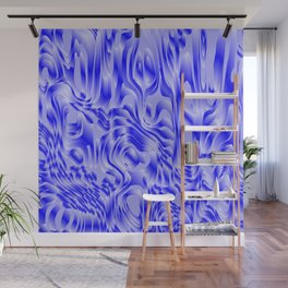 Pastel smudges stains of delicate colors with blue. Wall Mural